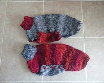 Red/Grey - Grey/Red Small Whippet Jumper - Ready to post