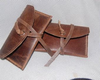 Handmade 100% Bull Hide Leather pouch/purse
