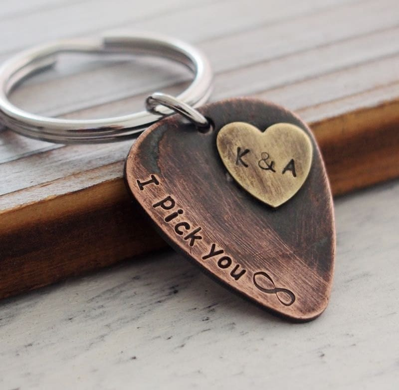 Boyfriend gift for mens personalized keychain