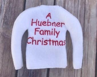 Custom Christmas Elf Family Name Photo Prop