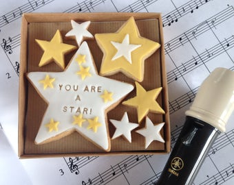 YOU ARE A STAR! hand baked message biscuits