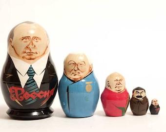 Nesting dolls Putin Russian President matryoshka doll - kod529p