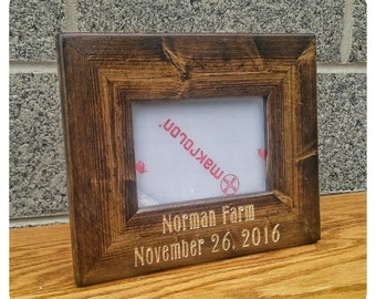 personalized frame wedding box frame wedding gifts wood box frame rustic wedding gift desktop frames custom wood frames rustic frames