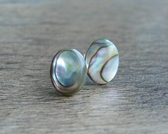 Bridal Jewelry Rough Crystal Studs Organic Natural Crystal &