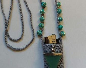 Jade's choise, handmade crochet lightercozy.