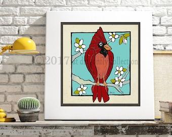 Cardinal Bird Art Etsy
