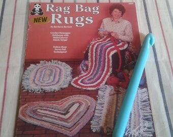 Rag Bag Rugs Pattern Book with Giant Crochet Hook
