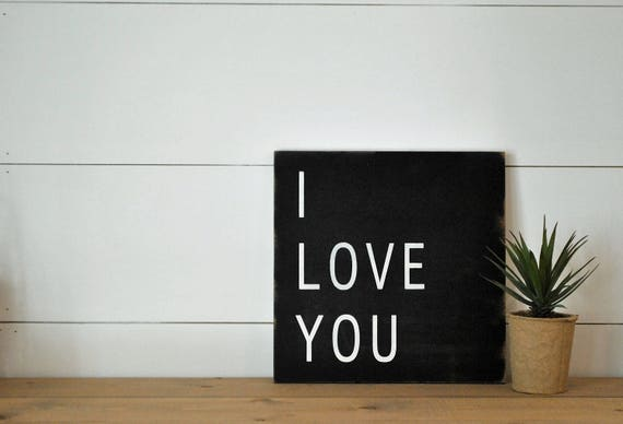 READY TO SHIP! I Love You sign