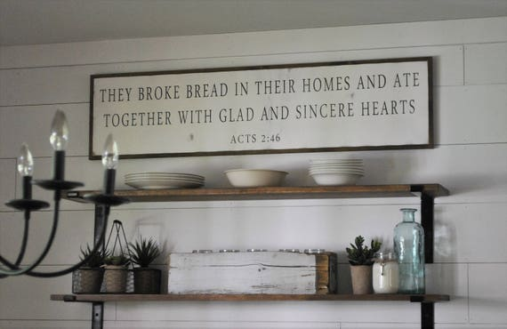 BROKE BREAD sign 1'X4'