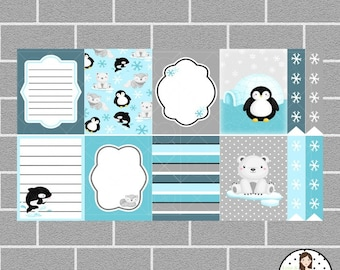 Arctic Friends Full Box Planner Stickers