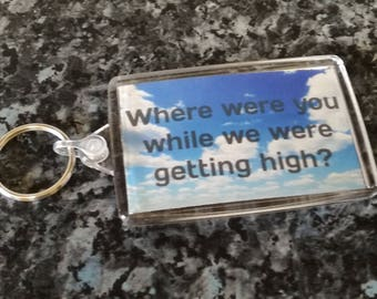 Oasis Lyric Jumbo Keyring. Champagne Supernova. Where Were You While They Were Getting High?