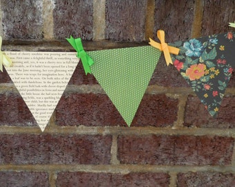 Anne of Green Gables Paper Pennant Garland / Book Page Decor / Gifts for Book Lovers / Gifts for Her / Bunting / Banner