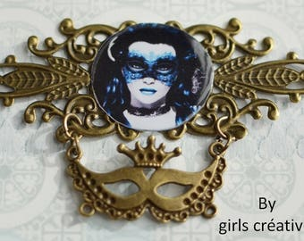 """Original creation """"Gothic"""" for scrapbooking or jewelry 85mm x 54 mm"""