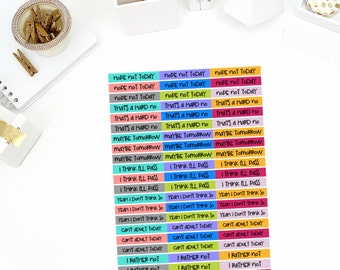 Not Today Stickers! Perfect for your Erin Condren Life Planner, calendar, Paper Plum, Filofax!