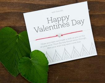 Valentine's Wish Bracelet, Kids Valentine gift, Boyfriend Gift, Best Friend Valentine, Teacher Valentine, Coworker Gift, Girlfriend Gift