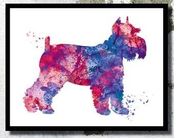 Miniature schnauzer Watercolor Art Print Dog poster Dog Watercolor Dog painting Miniature schnauzer poster Dog wall decor Dog nursery print