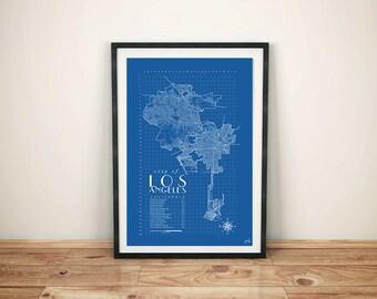 Los Angeles Dodgers Print, Los Angeles Wall Art, Los Angeles Print, Los Angeles Dodgers, Los Angeles Map