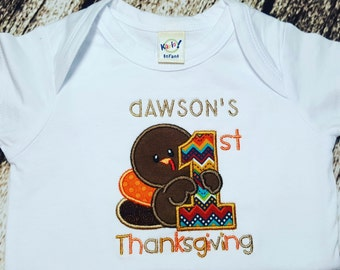 My first thanksgiving - Turkey - shirt - personalized