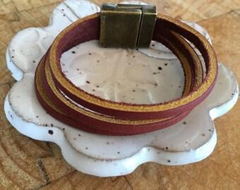Multistrand Leather Cuff | Bracelet