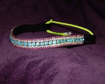 Super Bling Browband- Pink/Blue