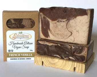 French Vanilla Soap, vegan, handmade
