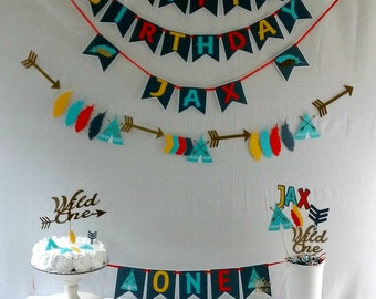 Wild One Tribal Party Package -boy - party supplies - boho - axtec - decorations