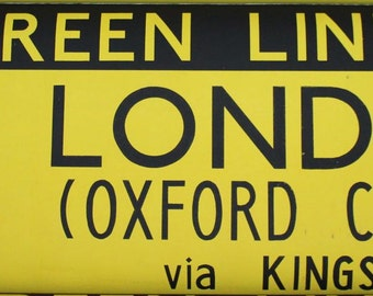 London Bus Blind. Routemaster. Vintage. 1960s Original Green Line - Screen Printed on Dutch Linen. Various Routes. Sold Individually.