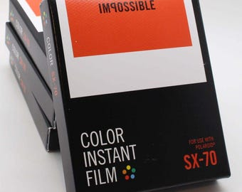 Impossible Project Colour / Color Instant Film for use with Polaroid SX-70 Cameras - Brand-new 2017 Stock - Classic White Frame