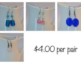 Various Earrings priced per pair