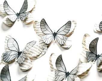 Grey home decorations, gray wall art, grey wall decor, grey baby shower decorations, winter wedding decor, wedding butterfly theme