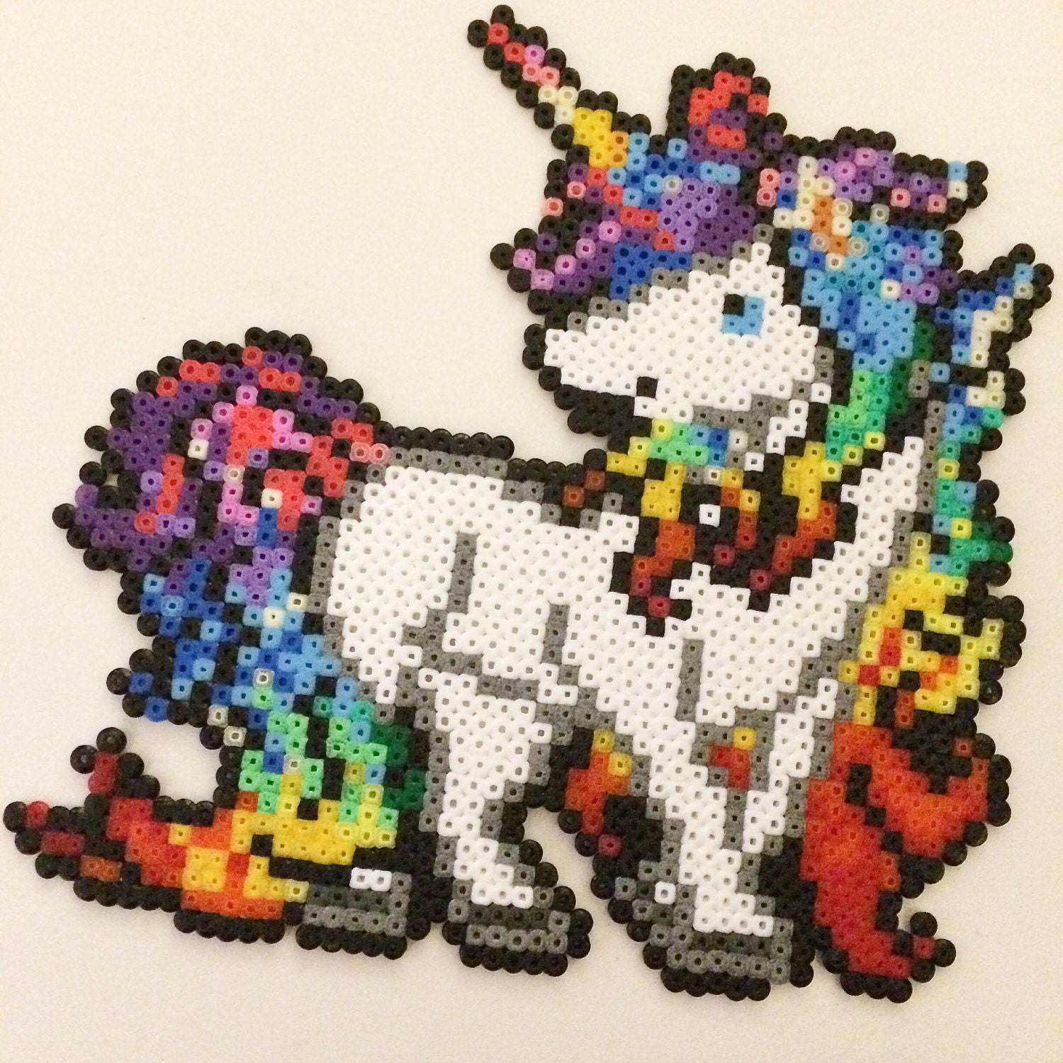 licorne perle hama mini perler pixel art cr ation aimant. Black Bedroom Furniture Sets. Home Design Ideas