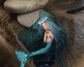 Tiny Mermaid, OOAK Mermaid, Ready To Ship