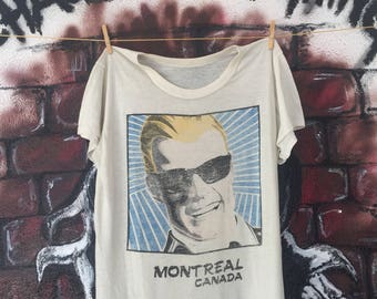 Vintage Max Headroom Show Fictional Characters Tshirt
