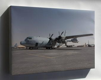 Canvas 24x36; Kc-130J Hercules Marine Aerial Refueler Squadron Vmgr-252