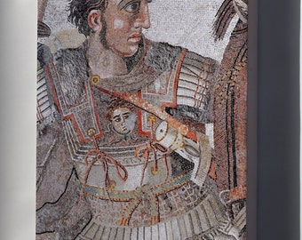 Canvas 24x36; Battle Of Issus Mosaic; Alexander The Great Mosaic