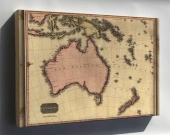 Canvas 24x36; Map Of Australia And New Zealand 1818