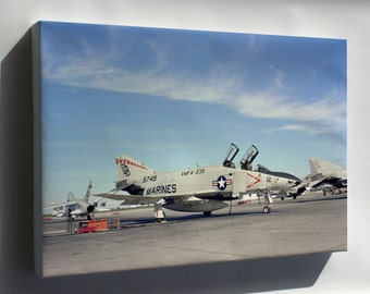 Canvas 24x36; F-4S Phantom Ii F-4 Squadron Vmfa-235 Death Angels