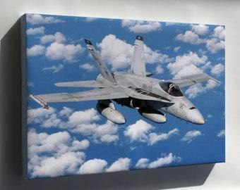 Canvas 24x36; Fa-18 Hornet