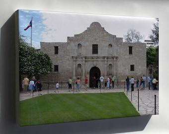 Canvas 24x36; Alamo Mission, San Antonio
