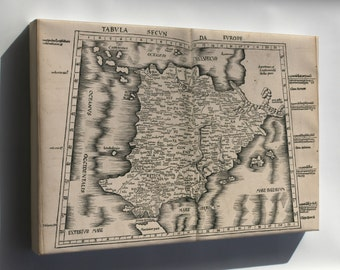 Canvas 24x36; Ptolemy Map Of Spain 2Nd Century