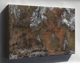 Canvas 16x24; Grand Canyon Satellite Image