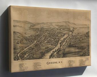 Canvas 16x24; Map Of Greene, New York 1890