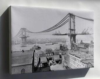 Canvas 16x24; Manhattan Bridge, March 23Rd, 1909 New York City