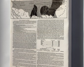 Canvas 16x24; Map And Progress Of The Civil War 1864