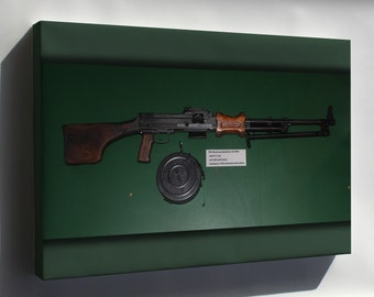 Canvas 16x24; 7,62 Mm Rpd Light Machine Gun