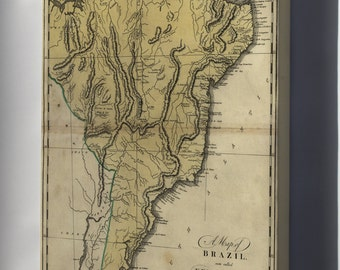 Canvas 16x24; Map Of Brazil, Or New Portugal 1814 P2