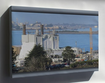 Canvas 16x24; Humboldt Bay Nuclear Power Plant As Seen From Humboldt Hill