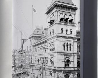 Canvas 16x24; Albany Post Office 1900