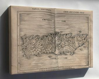 Canvas 16x24; Map Of Crete 1513