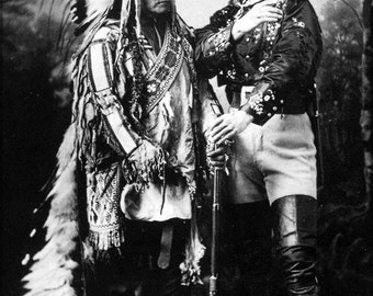 16x24 Poster; Sitting Bull And Buffalo Bill (1895